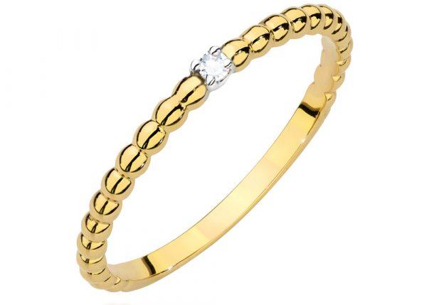 Złoty pierścionek Infinnity