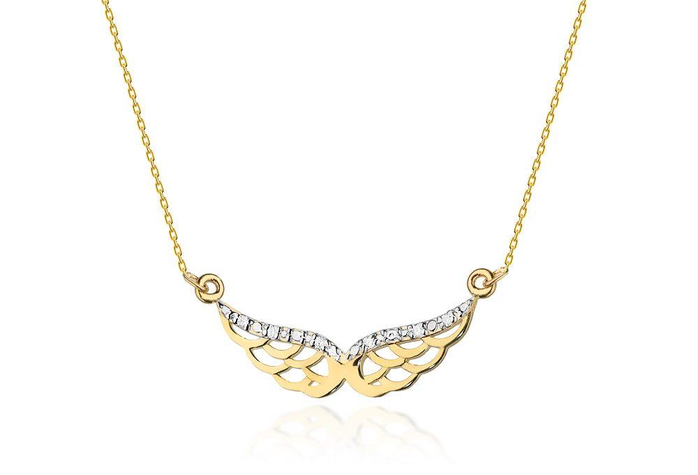 Celebrytka złota z brylantami