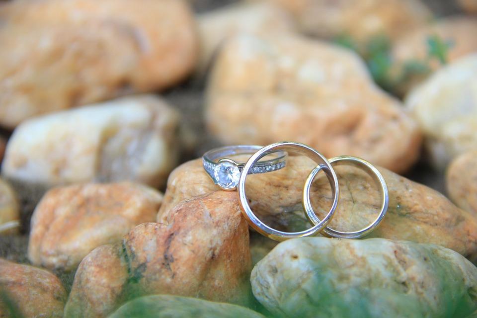 różne rozmiary pierścionków
